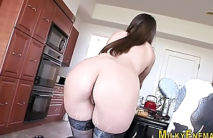 Lactating spoil toys ass
