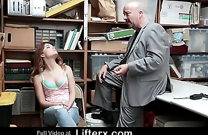 Shoplifting Step Daughter Caught and Banged Wits Attach Functionary Beside Her Dad - Lifterx.com