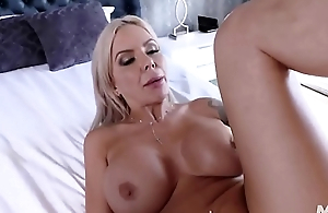 Milf got a massive creampie for their way lightweight pussy.