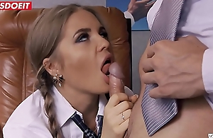 Naturally busty Alessandra Jane fucks thither the classroom