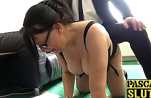 Busty plump mature nipper dominated increased by pounded super hard