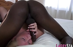 Sexy Granny Enjoys Big Black dude's big dick in Her Pussy