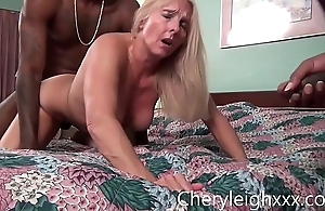 MILF get Bunch Fucked by young Black bodies while her husband is forced to watch