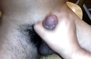 Long time regular with nice uncut Latin dick shoots big load after I clear absent him off.