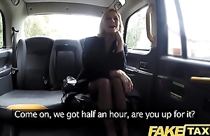 Fake Taxi Full-grown Milf gets their way big pussy lips stretched open