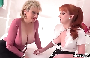 Unfaithful english mature lady sonia displays will not hear of monster puppies