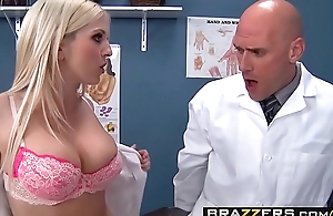 Two lascivious nurses (Christie Stevens, Jacky Joy) service doctors flannel - BRAZZERS