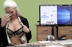 LOAN4K. Blonde goddess offers her wet slits be proper of necessary credit