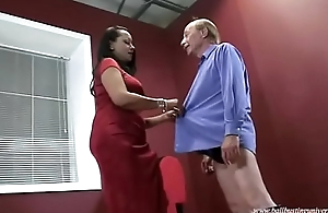 Ebony Haunch I met on Blackoog.com Contemptuous Boots Ballbusting