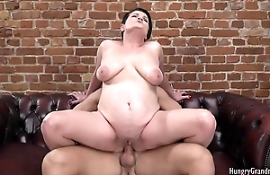 Horny Grandma Riding a Hard Wang