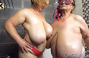 2 older ladies with prominent tits