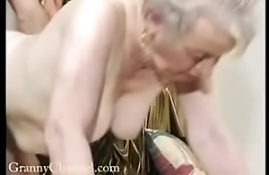 Honour grey grandma gets drilled in her house.