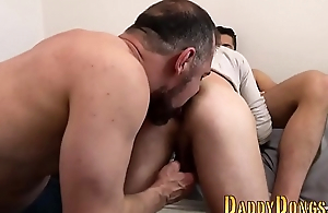 Stepson takes bears cock