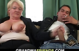 Two link fuck boozed blonde granny newcomer disabuse of one as well as the other ends