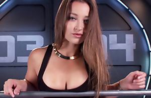 Amazing toddler Dani Daniels with the addition of the machine