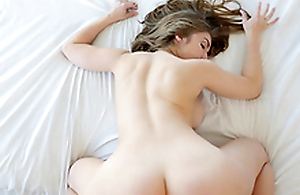 Lena Paul receives her hairy pussy banged while her tits bounce