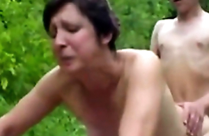 Forest XXX Sex Fuckers 1 - Old Woman & Young Dear boy - Sex Scene