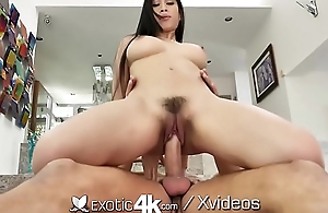 EXOTIC4K Busty asian GRINDS wet love tunnel on curtain dick