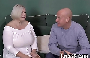 LACEYSTARR - Busty GILF negotiates set the Thames on fire pussy deal