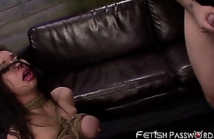 Deepthroating Oriental Kimmy Lee drilled in mating prison